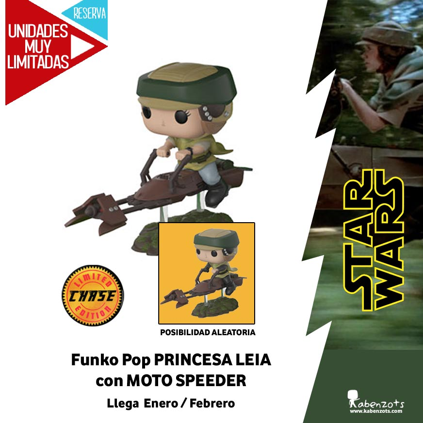 Reserva Leia con moto speeder