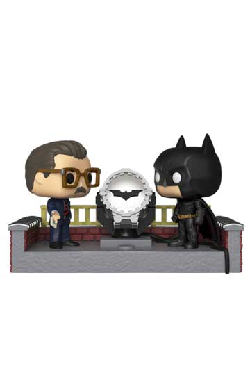 Funko Pop Comic Moment BATMAN con BATSEÑAL
