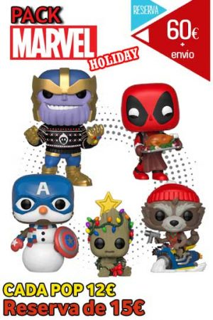 Funko Pop Pack MARVEL HOLIDAY