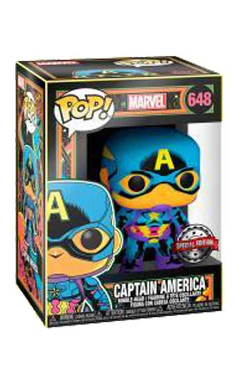 Funko Pop CAPITÁN AMÉRICA BLACK LIGHT